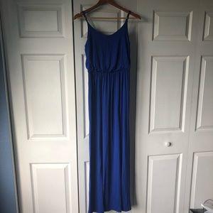 Lush Blue Maxi Dress NWT